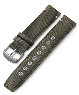 20mm Quick Release Fabric Strap Green large