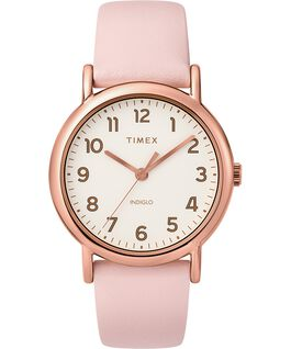 Weekender 2 Piece 38mm Leather Strap Watch Rose-Gold-Tone/Pink/Cream large