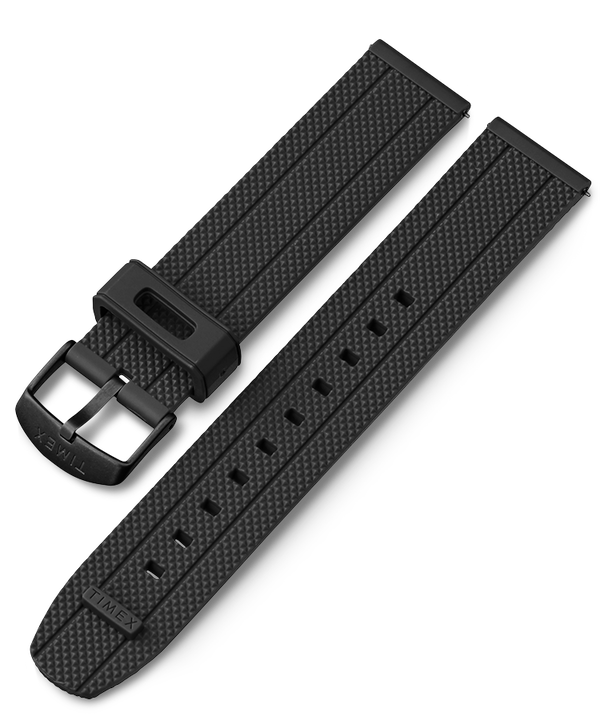 20mm Quick Release Silicone Strap Black large