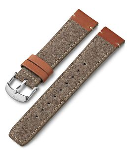 20mm Leather and Fabric Strap Tan large