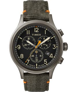 Allied Chronograph 42mm Fabric Strap with Red Accent Watch Grey/Olive large