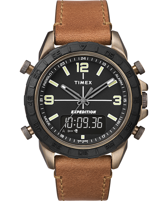 Expedition Pioneer Combo 41mm Quick Release Leather Strap Watch Black/Tan/Natural large