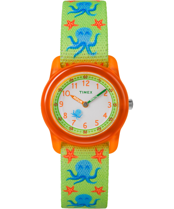 Kids Analog Patterned Strap Watch Red/Green/White large