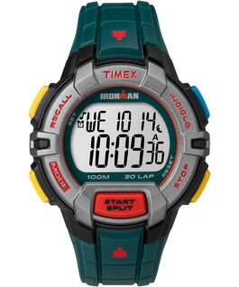 IRONMAN Rugged 30 Full-Size 45mm Resin Strap Watch Black/Green/Red/Gray large