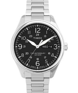 Waterbury Traditional 42mm Stainless Steel Bracelet Watch Stainless-Steel/Black large