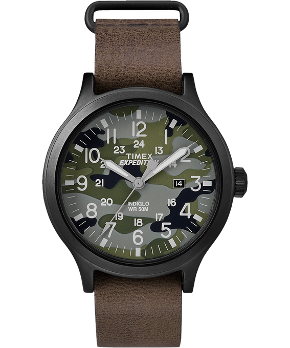 Expedition Scout 43 mm grande, bracelet en cuir
