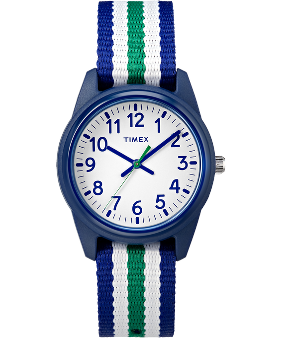 Kids Analog 30mm Nylon Strap Watch Blue/White large