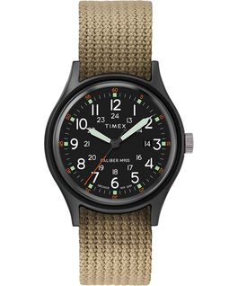 ArchiveMK1 Aluminum 40mm Fabric Strap Watch Black/Olive large