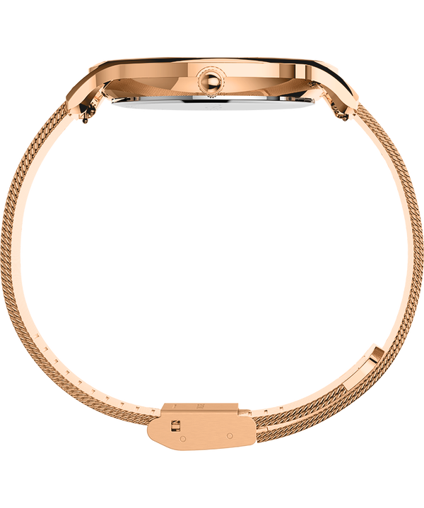 Transcend™ 38mm Stainless Steel Mesh Band Watch Rose-Gold-Tone/Pink large