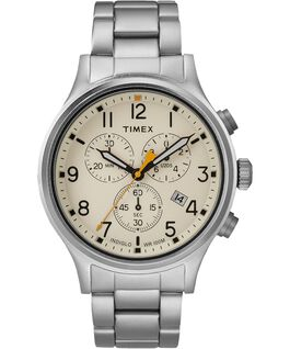 Allied Chronograph 42mm Bracelet Watch Silver-Tone/Natural large