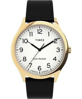 Easy Reader Gen1 40mm Leather Strap Watch Gold-Tone/Black/White large
