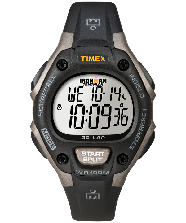 IRONMAN Classic 30 Mid-Size Resin Strap Watch Gray/Black large