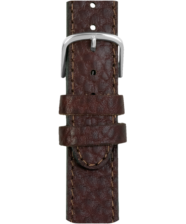 18mm Leather Strap Brown large