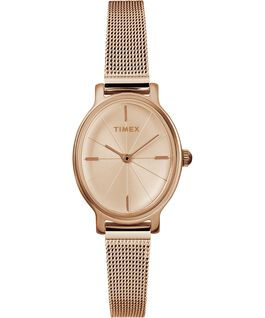 Milano Oval 24mm Stainless Steel Mesh Bracelet Watch Rose-Gold-Tone large